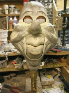 Pearl Ventriloquist Dummy Head Casting